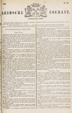 Leydse Courant 1883-04-21