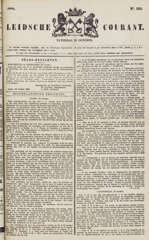 Leydse Courant 1884-10-25