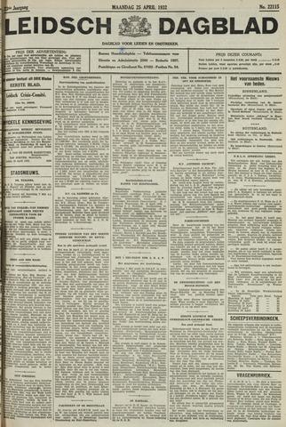Leidsch Dagblad 1932-04-25