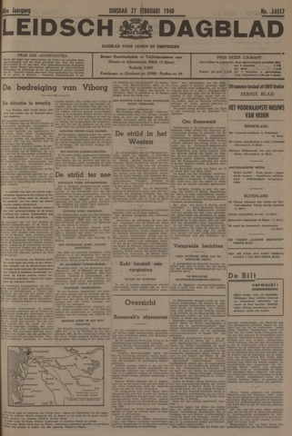 Leidsch Dagblad 1940-02-27