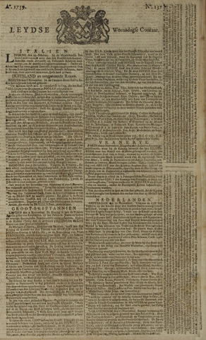 Leydse Courant 1759-11-14