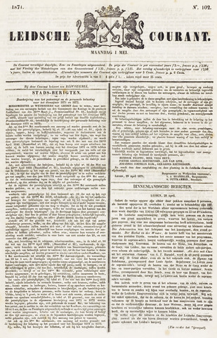 Leydse Courant 1871-05-01