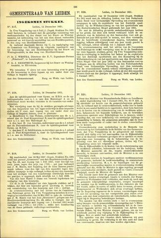 Handelingen van de Raad 1931-12-14
