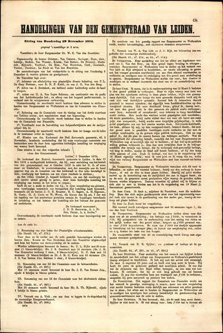 Handelingen van de Raad 1874-12-10