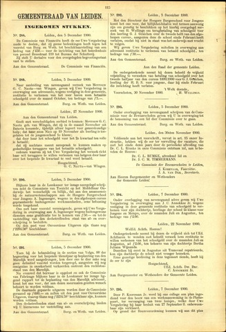 Handelingen van de Raad 1900-12-05