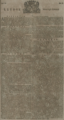 Leydse Courant 1729-03-21