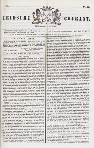 Leydse Courant 1883-01-24