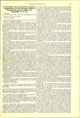 Handelingen van de Raad 1930-01-24