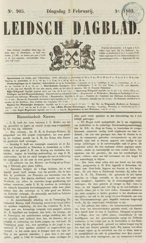 Leidsch Dagblad 1863-02-03