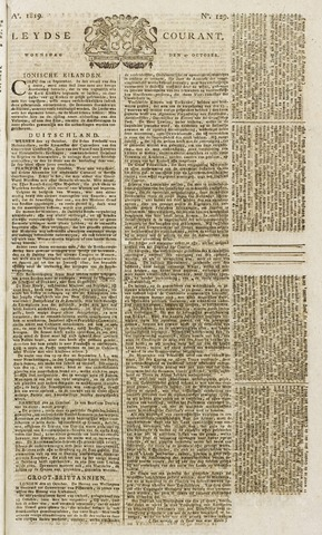 Leydse Courant 1819-10-27