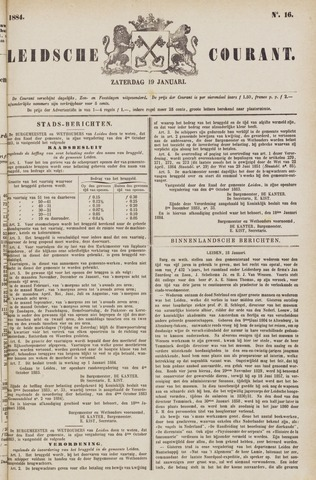 Leydse Courant 1884-01-19