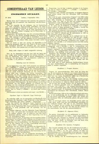 Handelingen van de Raad 1925-09-07