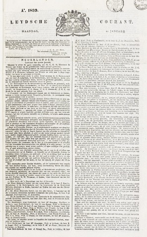 Leydse Courant 1839-01-21