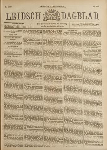 Leidsch Dagblad 1899-11-07
