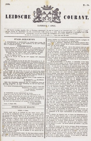 Leydse Courant 1876-04-01
