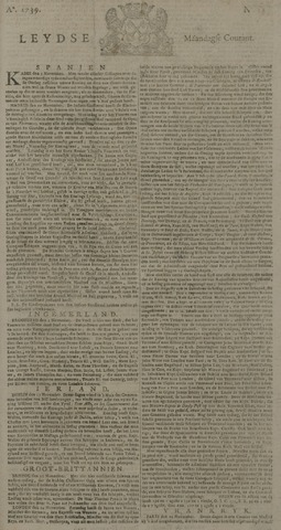 Leydse Courant 1739-11-30