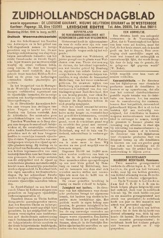 Zuidhollandsch Dagblad 1944-10-26