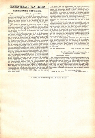 Handelingen van de Raad 1901-08-02