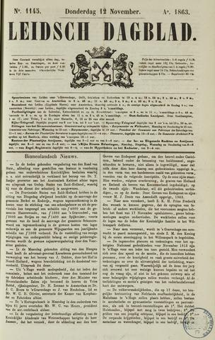 Leidsch Dagblad 1863-11-12