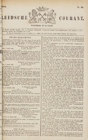 Leydse Courant 1884-01-30