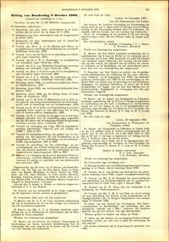 Handelingen van de Raad 1903-10-08