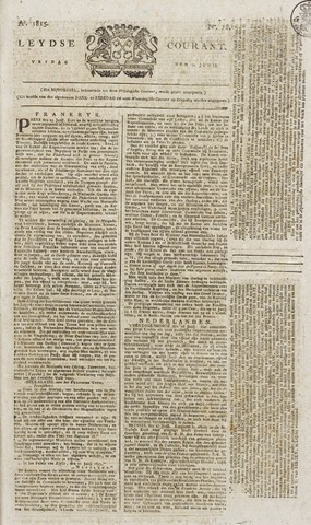 Leydse Courant 1815-06-30