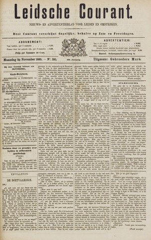 Leydse Courant 1885-11-30