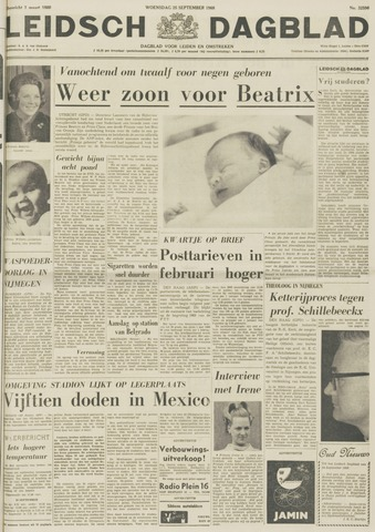 Leidsch Dagblad 1968-09-25