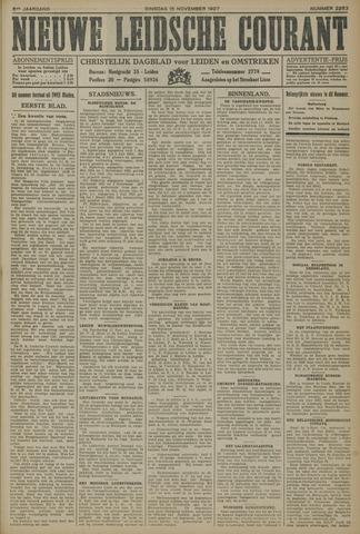 Nieuwe Leidsche Courant 1927-11-15