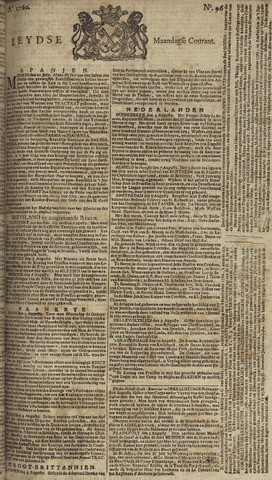Leydse Courant 1760-08-11