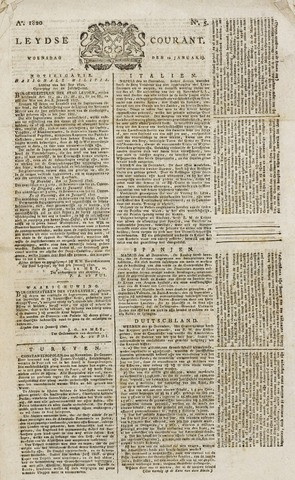 Leydse Courant 1820-01-12