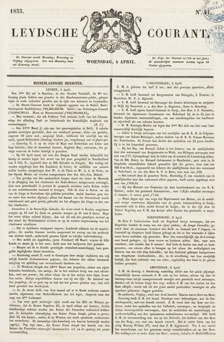 Leydse Courant 1855-04-04