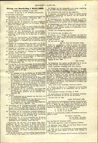 Handelingen van de Raad 1906-03-01