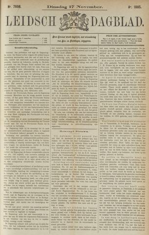 Leidsch Dagblad 1885-11-17