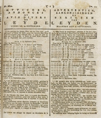 Leydse Courant 1812-09-14