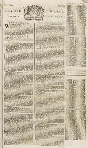 Leydse Courant 1815-03-22