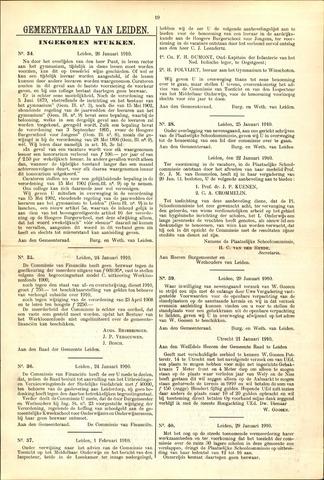 Handelingen van de Raad 1910-01-26