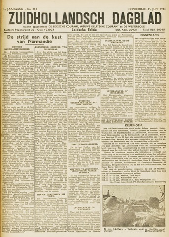 Zuidhollandsch Dagblad 1944-06-15