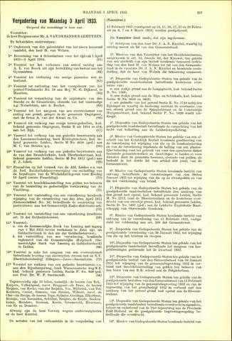 Handelingen van de Raad 1933-04-03
