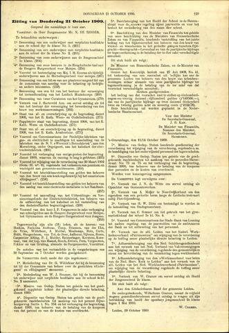 Handelingen van de Raad 1909-10-21