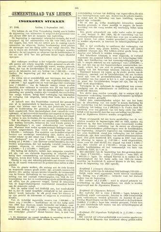 Handelingen van de Raad 1927-09-01
