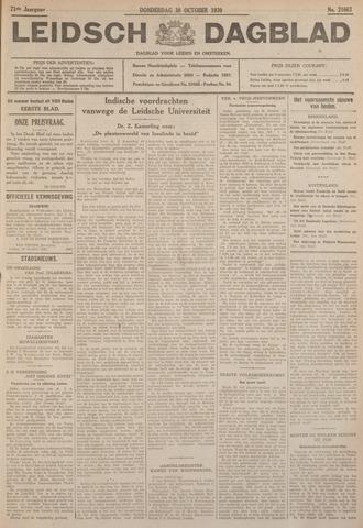 Leidsch Dagblad 1930-10-30