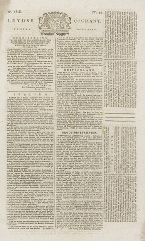 Leydse Courant 1818-04-10