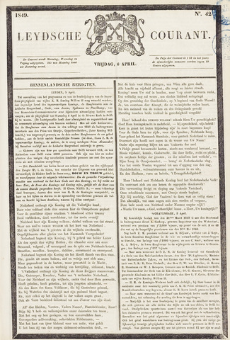 Leydse Courant 1849-04-06
