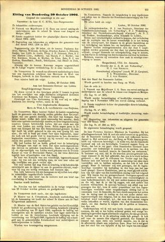 Handelingen van de Raad 1902-10-30