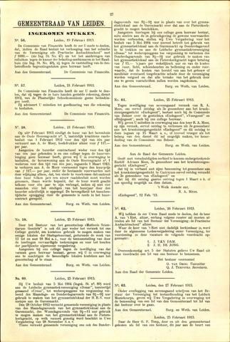 Handelingen van de Raad 1913-02-19