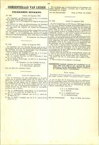 Handelingen van de Raad 1915-08-24