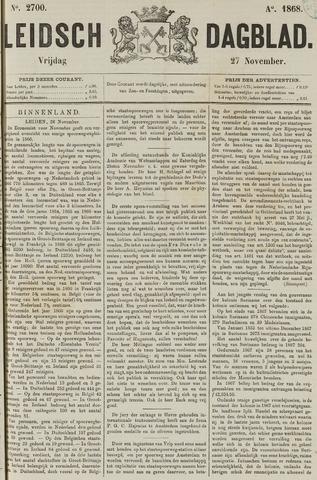Leidsch Dagblad 1868-11-27
