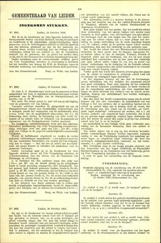 Handelingen van de Raad 1928-10-18
