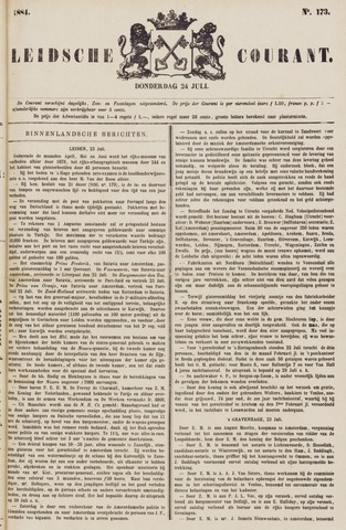 Leydse Courant 1884-07-24